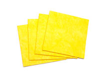 Yellow napkins for cleaning. Royalty Free Stock Photo