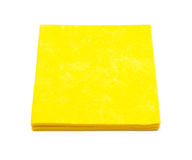 Yellow napkins for cleaning. Royalty Free Stock Images