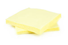 Yellow napkins Stock Images