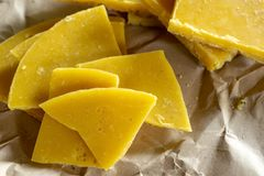 Yellow natural beeswax Royalty Free Stock Photography