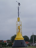 Yellow navigation buoy Royalty Free Stock Images