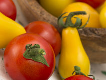 Yellow nd red tomatoes Royalty Free Stock Images