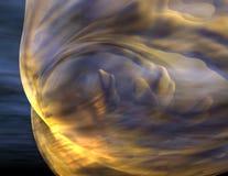 Yellow Nebula Stock Image
