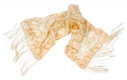Yellow neckerchief. Isolated on white Royalty Free Stock Photos