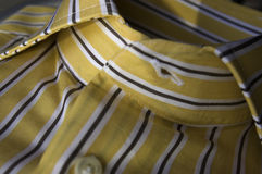 Yellow neckline. The first plane of the detail of the neckline Royalty Free Stock Image