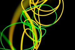 Yellow neon and green neon abstract. royalty free stock images