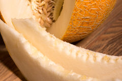 Yellow netted melon Stock Images