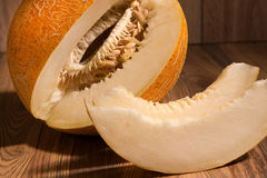 Yellow netted melon Royalty Free Stock Photo