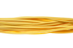 Yellow network patch cord Royalty Free Stock Photography