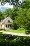 Yellow New England House. A yellow country home in New Hampshire Royalty Free Stock Images