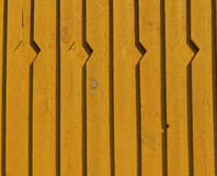 Yellow new wooden house wall background royalty free stock photo