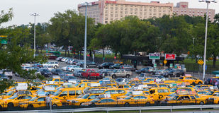 Yellow New York Taxis Stock Photo