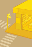 Yellow news stand. royalty free illustration