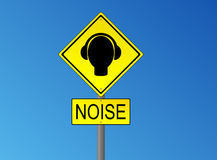 Noise road sign Royalty Free Stock Photo
