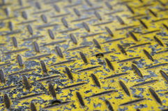 Yellow non slip surface Stock Photography