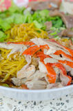 Yellow noodles Royalty Free Stock Photos