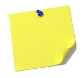 Yellow note Royalty Free Stock Photos