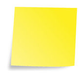 Yellow note Stock Photo