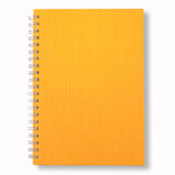 Yellow Note Book. Isolate On White Background Royalty Free Stock Image