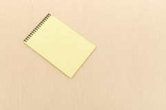 Yellow note book Royalty Free Stock Photo