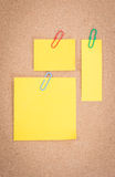 Yellow note Stock Photography