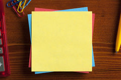 Yellow note with empty place for your text Royalty Free Stock Images