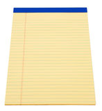 Yellow Note Pad. Blank yellow paper legal note pad Stock Photo