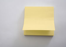 Yellow Note Pad Royalty Free Stock Photo