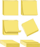 Yellow Note Pads - Vector Illustrations Stock Image