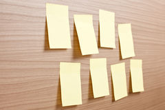 Yellow note paper Stock Photography