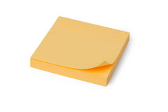 Yellow note paper Royalty Free Stock Photography