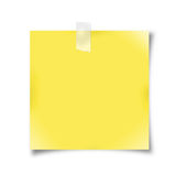 Yellow note paper Royalty Free Stock Image