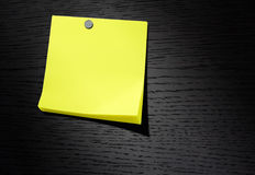 Yellow note paper Stock Photos