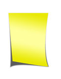 Yellow Note Paper Stock Image
