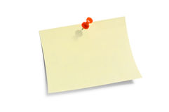 Yellow Note Paper. Royalty Free Stock Image