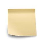 Yellow note sticks on white background Royalty Free Stock Photos