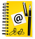Yellow notebook Royalty Free Stock Photo