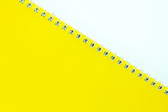 A yellow notebook. Royalty Free Stock Photography