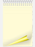 Yellow notebook Royalty Free Stock Image