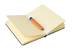 Yellow notebook Stock Images