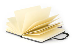 Yellow notebook Royalty Free Stock Images