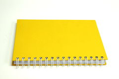 Yellow notebook paper Royalty Free Stock Photography
