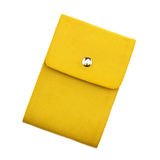 Yellow notebook on white background with clipping path Stock Image