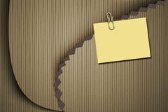 Yellow notepad and cardboard background Stock Photos