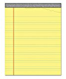 Yellow notepad note paper  Stock Photo