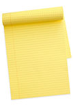 Yellow Notepad (with Path) Stock Images