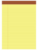 Yellow notepad Stock Image
