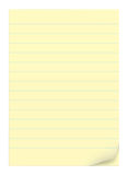 Yellow notepad sheets Royalty Free Stock Images