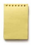Yellow notepad Stock Image