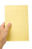 Yellow notepaper Royalty Free Stock Photography